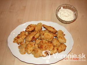 Zlaté kurča s parmezánom a cesnakovou majonézou
