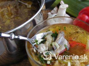 Kuracia polievka so šampiňónmi 1
