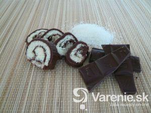 Čokoládovo-kokosová roláda