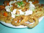 Vyprážané krevety a cibuľové krúžky