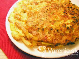Sedliacka omeleta so zeleninou