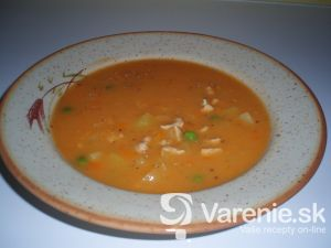 Gulášová polievka z bravčového mäsa