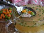 Kuracia krupicová polievka