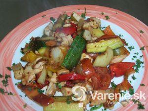 Opečená zelenina s mäsom