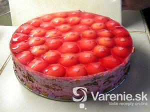 Malinová nepečená torta