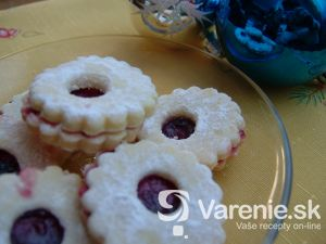 Linecké cukrovinky s vanilkou