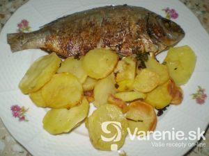 Ostriež s pečenými zemiakmi