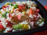 Krabí ryžový šalát