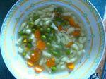 Hrášková polievka s haluškami