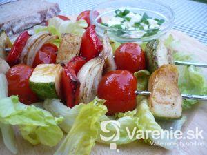 Zeleninové špízy s cuketou