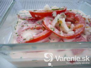 Jemný paradajkový šalát
