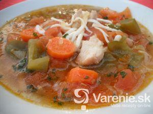 Zeleninová polievka s kuracím mäsom