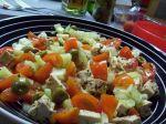 Olivový šalát s tofu