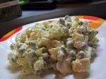 Vajíčkový šalát s hráškom