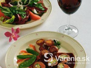 Jahňacia roláda so špenátovou náplňou