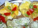 Šalát so slaninou a sázenými vajciami