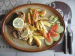 Losos s pečenými zemiakmi